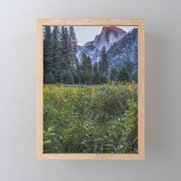 Light setting on Half Dome v Framed Mini Art Print