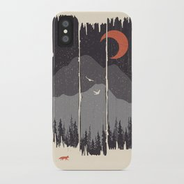 Winter Mountain Weather... iPhone Case
