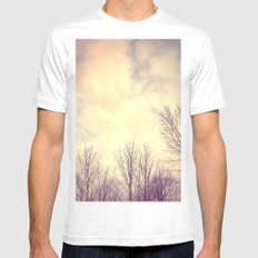 Her Bare Branches Waited for Spring MEDIUM White Mens Fitted Tee