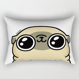 Mochi the pug loves you Rectangular Pillow