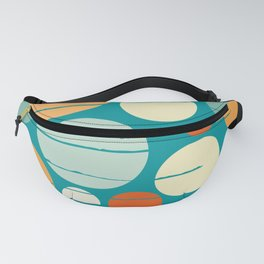 Bubles and circles on the ocean Fanny Pack