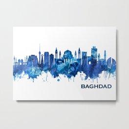 Baghdad Iraq Skyline Blue Metal Print