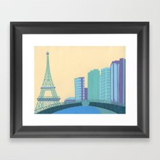 Pont Mirabeau Bridge Framed Art Print