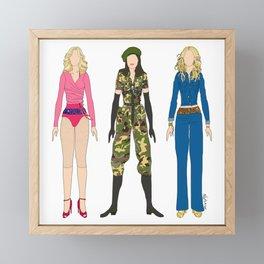 Triple Madge American Life Framed Mini Art Print