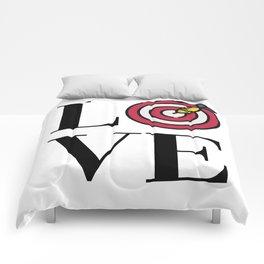 Love Darts Comforters