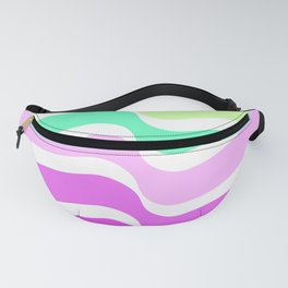 Bends Style 2 Top Color skewing Abstract; new gray decorations;Love is allowed Fanny Pack