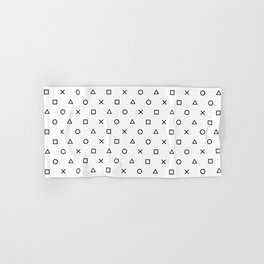 Playstation Controller Pattern (Black on White) Hand & Bath Towel