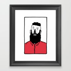 BearD Guy Framed Art Print