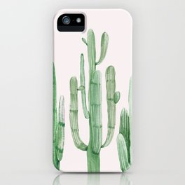 Three Amigos Pink + Green iPhone Case