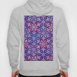 Floral Geometric Purple Pattern Hoody