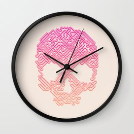 Labyrinthine Skull - Tropical Wall Clock