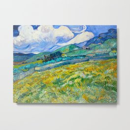 Mountain Landscape behind the Saint Paul Hospital Painting by Vincent van Gogh 1889 Metal Print