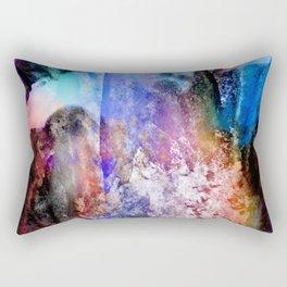 Technocolor abstract grunge Rectangular Pillow