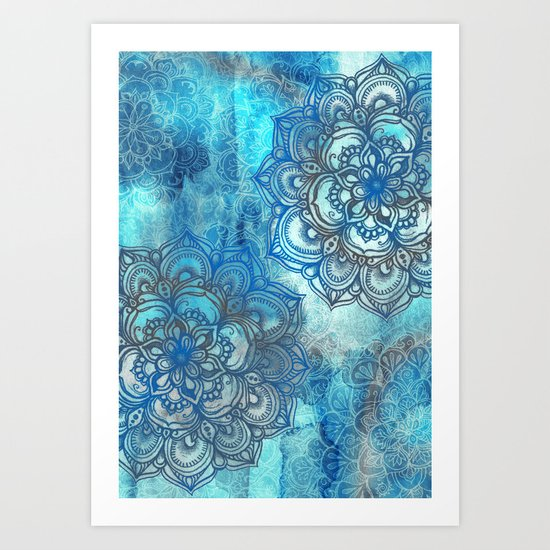 Lost in Blue - a daydream made visible Art Print