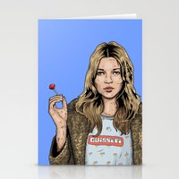 kate moss Stationery Cards featuring Kate Moss  by guissëpi