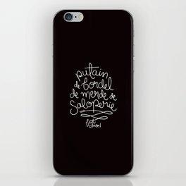 Sacres France - White iPhone Skin