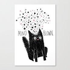 MIND BLOWN. Canvas Print