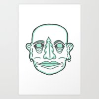 PUNK MONK Art Print