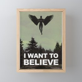 Gen 6 [I Want To Believe] Framed Mini Art Print