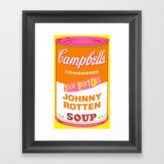 Johnny Rotten Sex Pistols Soup Framed Art Print