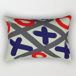Tic Tac Toe big Rectangular Pillow