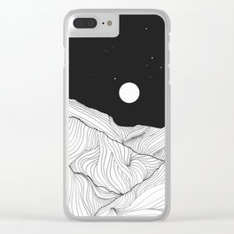 Lines in the mountains II Clear iPhone Case