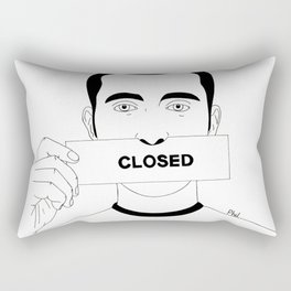 Closed in my silence Rectangular Pillow