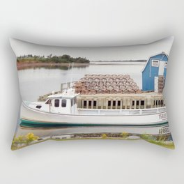 Lobster Boat and Traps Rectangular Pillow