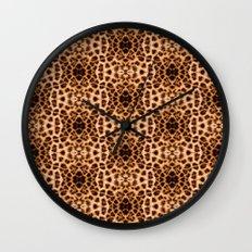 Leopard Print Kaleidoscope Abstract Wall Clock
