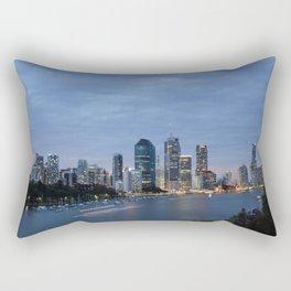 Early Evening River Traffic Rectangular Pillow