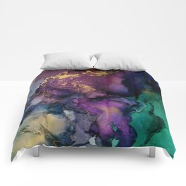 Pour your art out in purple Comforters
