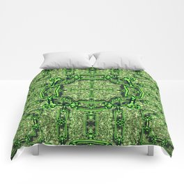 Charming shiny Chains,Pattern green Comforters