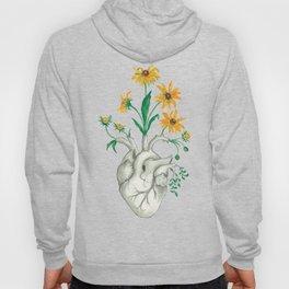 Floral Heart: Sunflower Human Anatomy Hoody