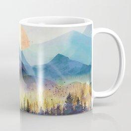 Mountain Lake Under Sunrise Coffee Mug