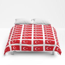 flag of turkey -turkey,Turkish,Türkiye,Turks,Kurds,ottoman,istanbul,constantinople. Comforters
