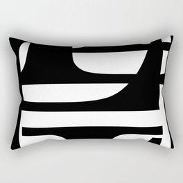 Hidden Letters. Baskerville L Rectangular Pillow
