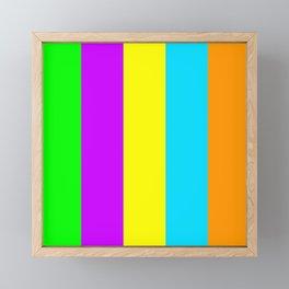 Neon Mix #3 Framed Mini Art Print