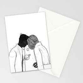 Sharing night thoughts Stationery Cards