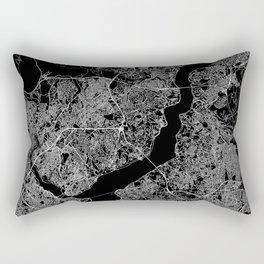 Istanbul Black Map Rectangular Pillow