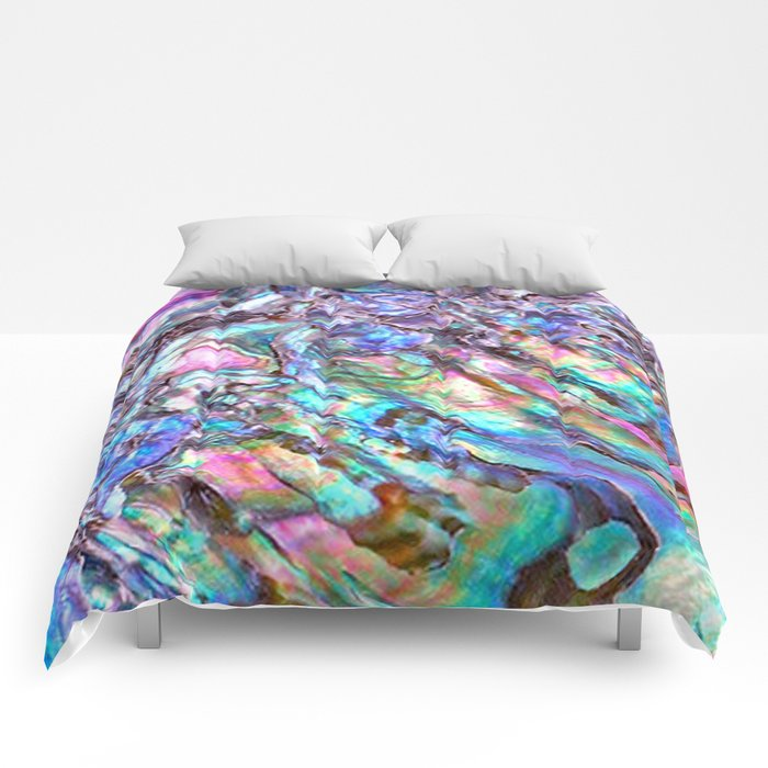 Shimmery Rainbow Abalone Mother of Pearl Comforters