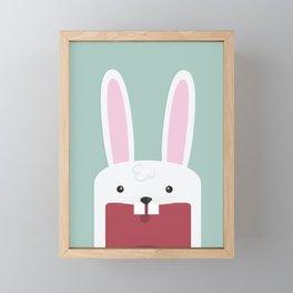 Jawdrop Bunny Framed Mini Art Print