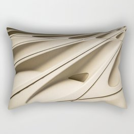 Architectural abstract of the Broad (rhymes with road), Los Angeles, California Rectangular Pillow