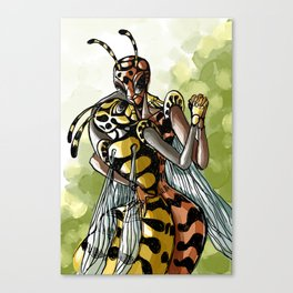 wasps couple Canvas Print