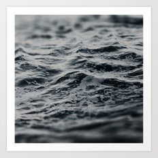 Ocean Magic Black and White Waves Art Print