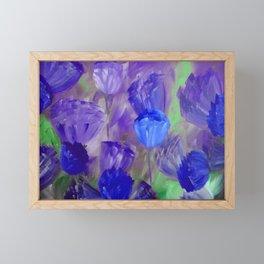 Breaking Dawn in Shades of Deep Blue and Purple Framed Mini Art Print