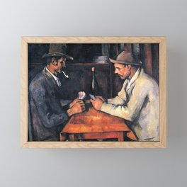 Paul Cézanne - The Card Players Framed Mini Art Print