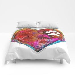 Dog Art - Puppy Love 2 - Sharon Cummings Comforters