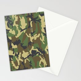 Woodland Camo Stationery Cards