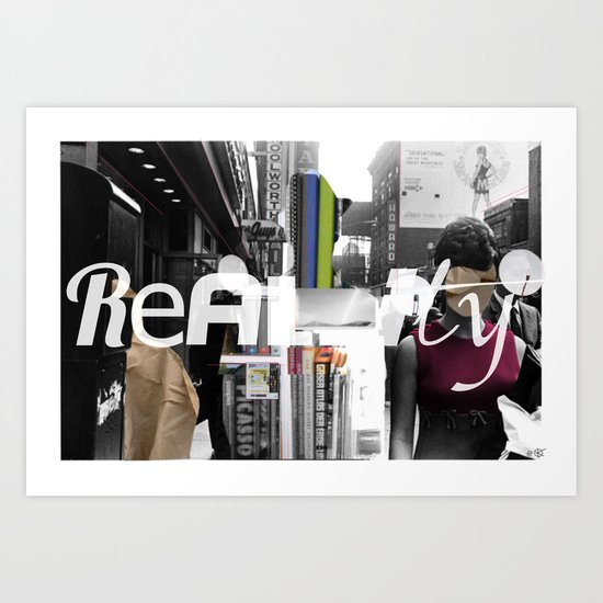 Reality 1 Collage Art Print