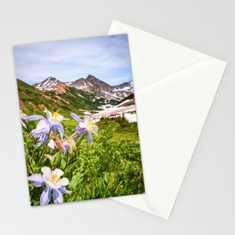 High Country Summer Wildflowers Crested Butte Colorado Mountain Landscape Stationery Cards